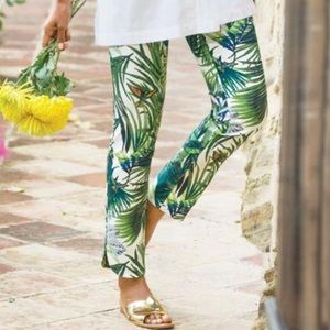 Soft Surroundings Tropical Print Pull On Pants